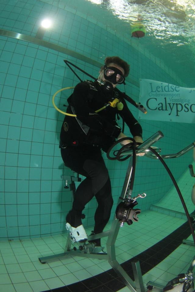 Op de onderwaterfiets